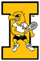 University of Iowa Vintage Tennis Herky, Vinyl Decal