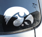 University of Iowa Tigerhawk Logo - Chrome Vinyl Decal